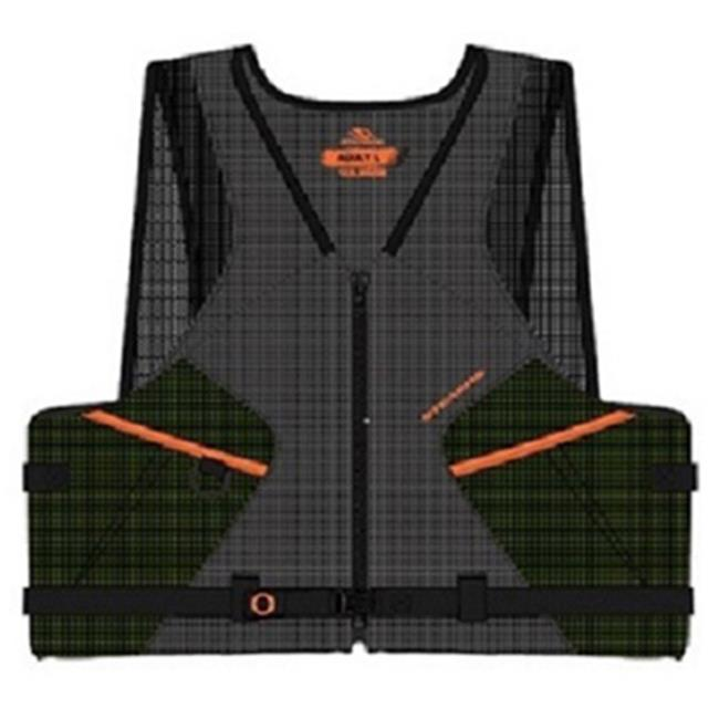 2000013802 2 Extra Large Fishing Vest, Green & Orange by SuperJock