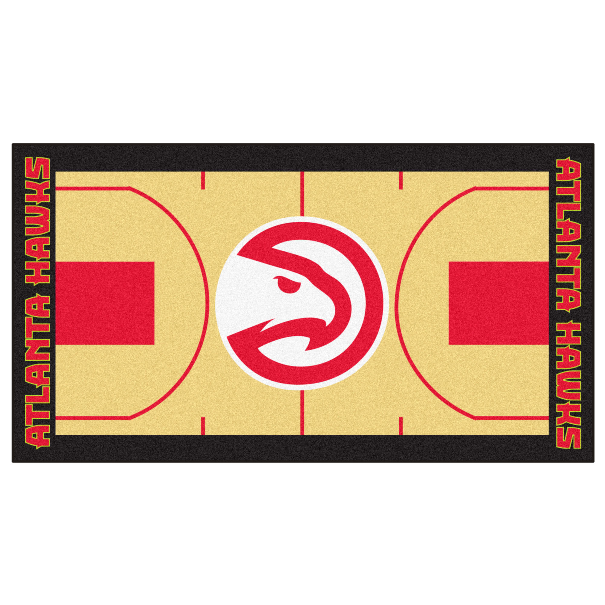 NBA Atlanta Hawks NBA Court Large Non-Skid Mat Area Rug Runner