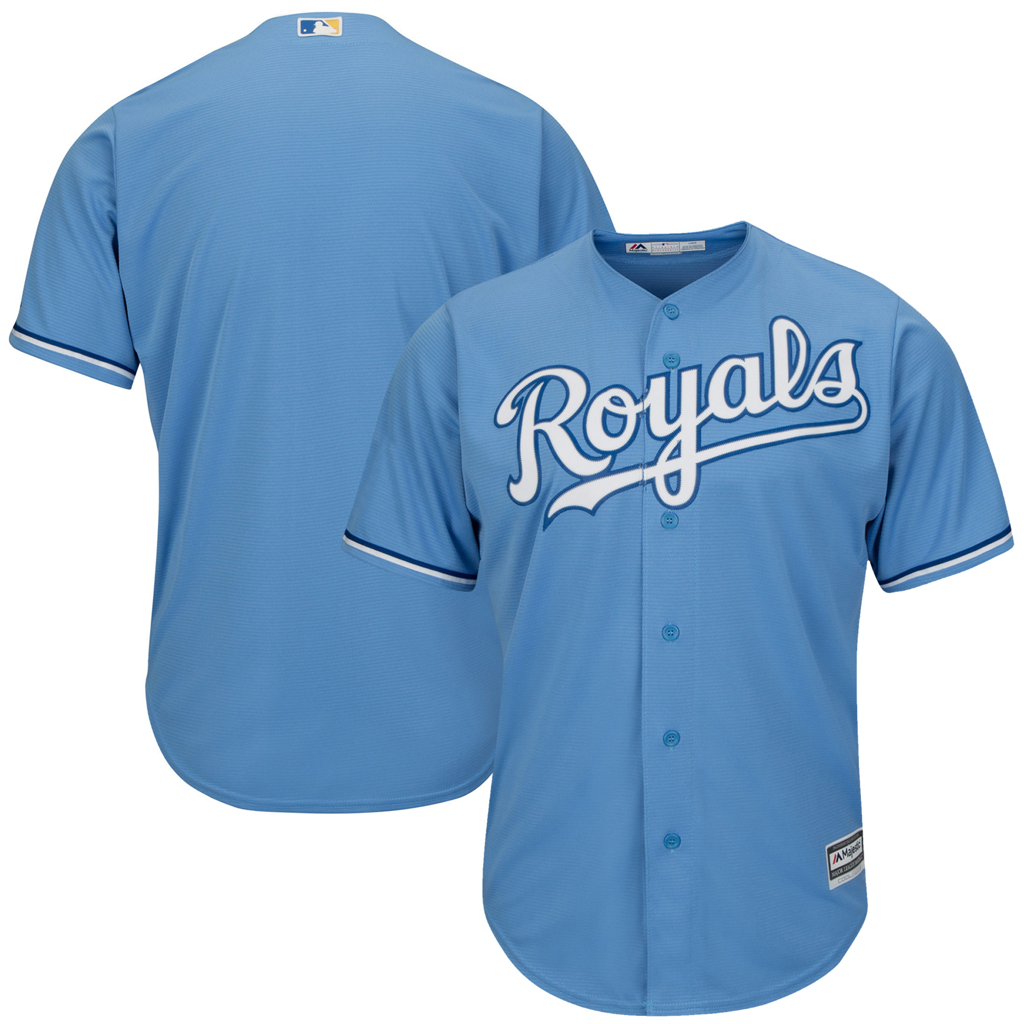 Kansas City Royals Majestic Youth Official Cool Base Jersey - Light Blue