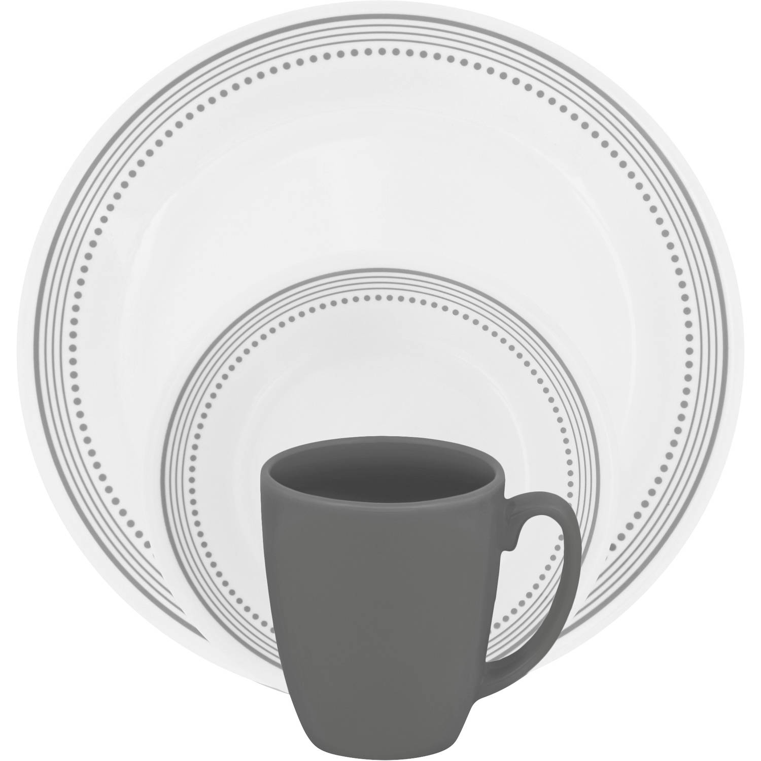 sc 1 st  Walmart : white square dinnerware sets for 12 - pezcame.com