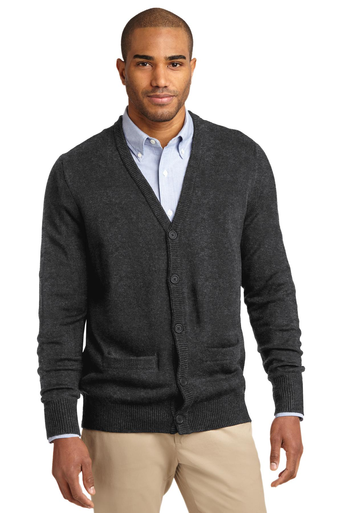 Port Authority Value V-Neck Cardigan Sweater with Pockets