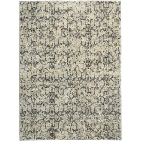 Kelly Ripa Home Origin Ivory Gray Indoor Area Rug