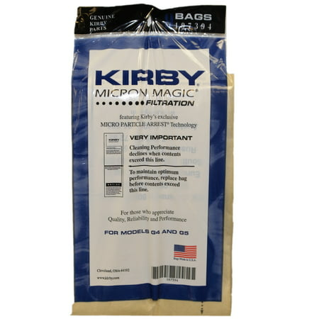 Kirby Vac Bags For Models G4, G5 and Gsix, Generation 4, 5, 6 Upright Vacuum Cleaner Micron Magic 18-Bags