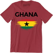Republic of Ghana West Africa Black Star National Flag Ghanaian Mens T-Shirt