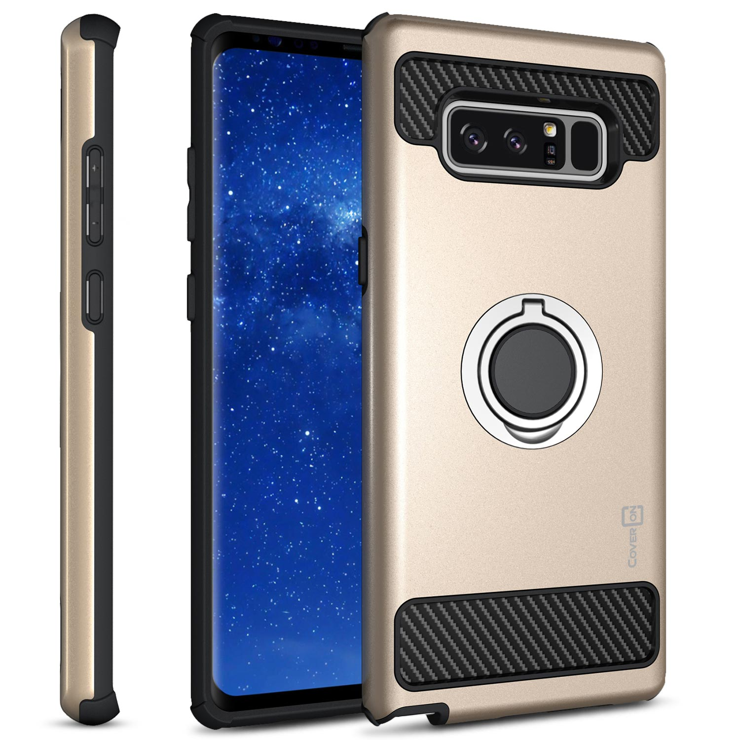 CoverON Samsung Galaxy Note 8 Case, RingCase Series Hybrid Kickstand Phone Cover