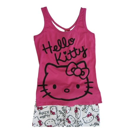 94652d39e Sanrio - Sanrio Womens Pink Hello Kitty Sleeveless 2Pc Pajama Set M -  Walmart.com