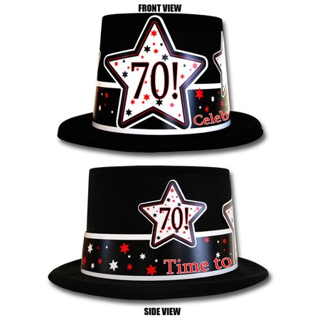 Partypro TQP 3995 70Th Birthday Time To Celebrate Top Hat