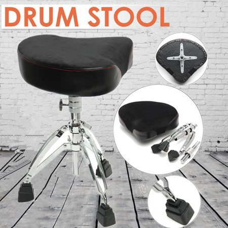 Adjustable Drum Throne Stool Tripod Seat Drumming Chair Stand Adjust Padded US - image 6 of 6