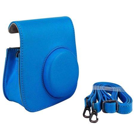 Fuji Fitted Case (Cobalt Blue Groovy Case For Fuji Instax Mini Camera + Strap Brand)