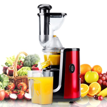 Juicer Hornbill Slow Masticating Juicer Cold Press Juicer Machine,Wide Mouth Whole Masticating Juicer with Juice and Brush Higher Nutrient Fruit and Vegetable