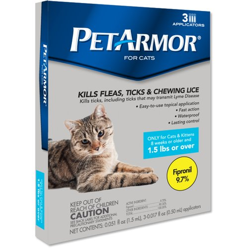 PetArmor for Cats Over 1.5 lbs, 3-Count