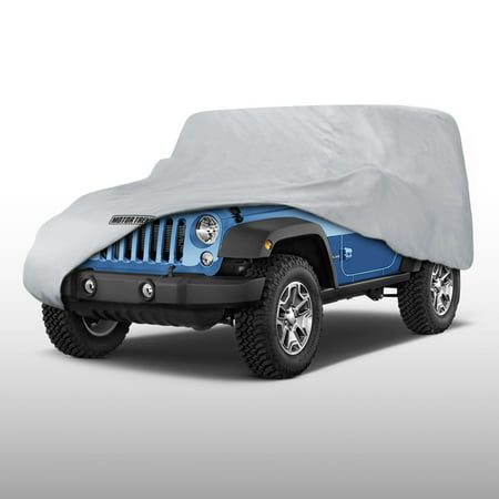 Motor Trend Jeep Wrangler 2 Door Custom Fit Outdoor Waterproof Car Cover - Waterproof & Breathable Custom Fit Cover Ski
