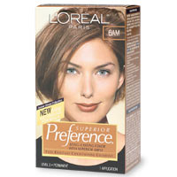 Loreal Preference Hair Color, Light Amber Brown 6Am - Kit