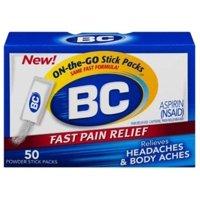 6 Pack - BC Original On-the-Go Fast Pain Relief Powder Stick Packs Aspirin 50 ea