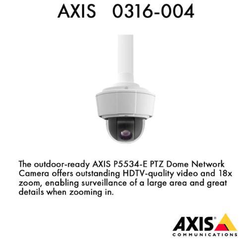 P5534-E PTZ Dome Network Camera