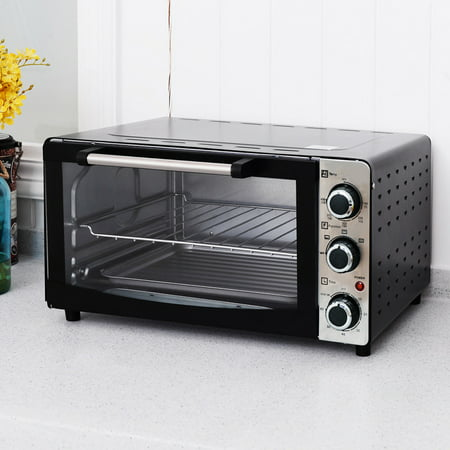 Costway 1300W Electric Toaster Oven Broiler Pizza 20L Cou...