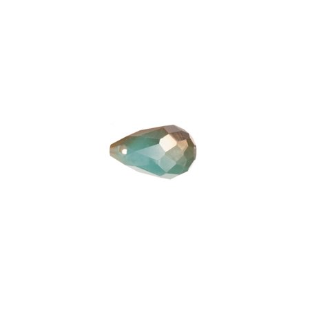 Ab2x Coated Turquoise Opal Faceted Briolette Drop Crystal Beads Top-Drilled 8x13mm 30pcs ()