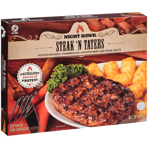 Night Hawk Steak 'N Taters Frozen Entree, 6 oz