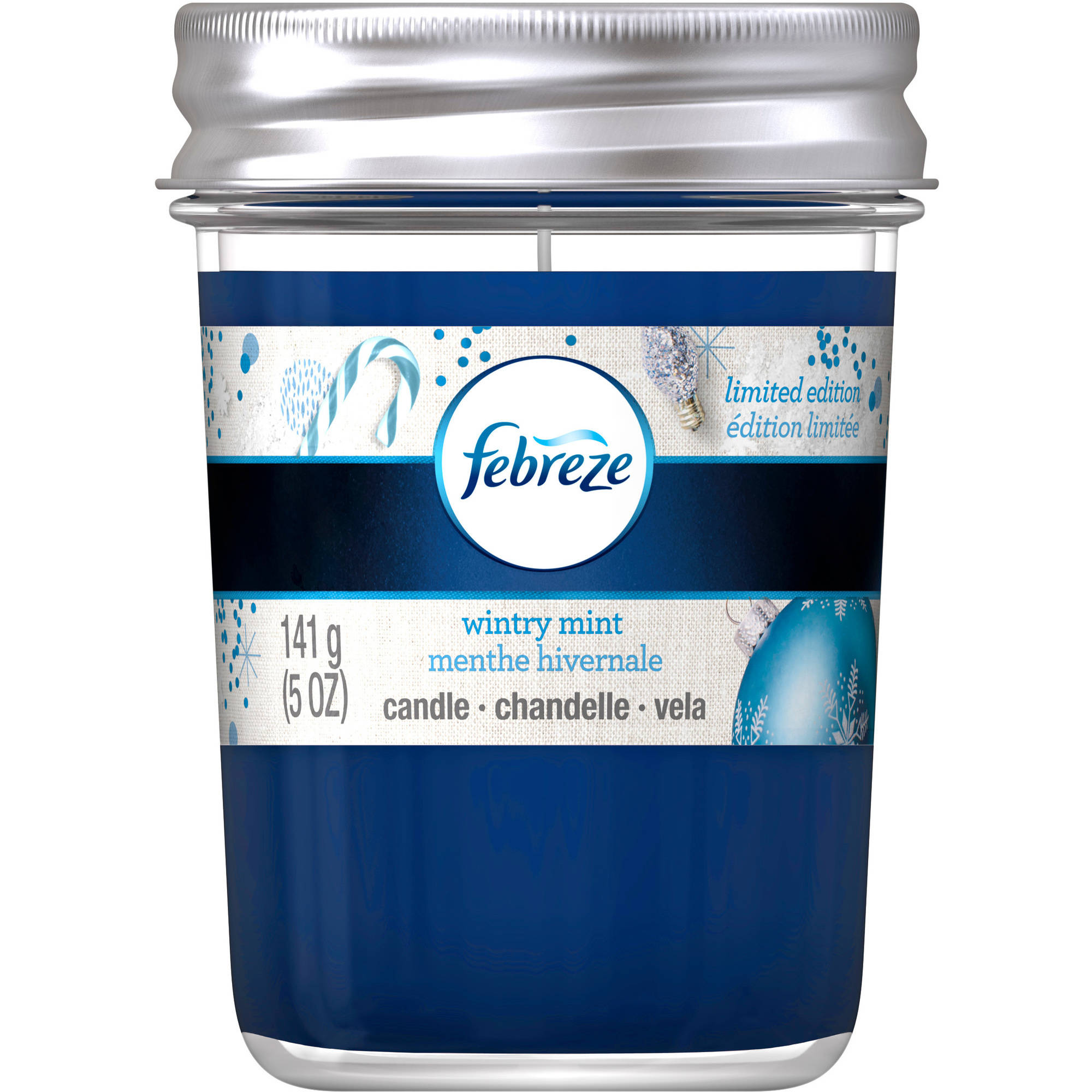 Febreze Wintry Mint Air Freshener Candle, 5 oz
