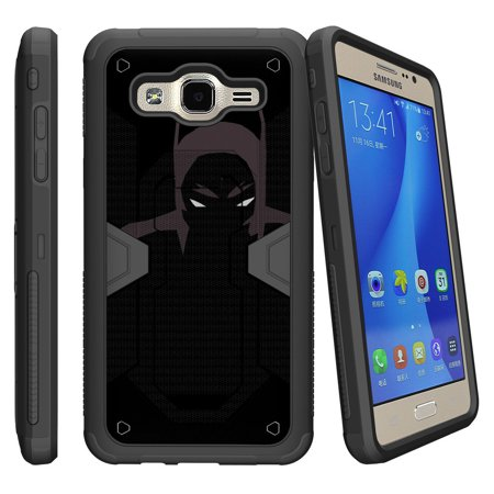 Case for Samsung Galaxy J120, Amp 2, and Express 3[MAX DEFENSE] Dual Hybrid Shell Case with Kickstand and Holster by Miniturtle® - Dark Knight](Dark Knight Cowl For Sale)