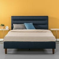 Zinus Kiernan Upholstered Horizontally Cushioned Platform Bed Multiple Sizes