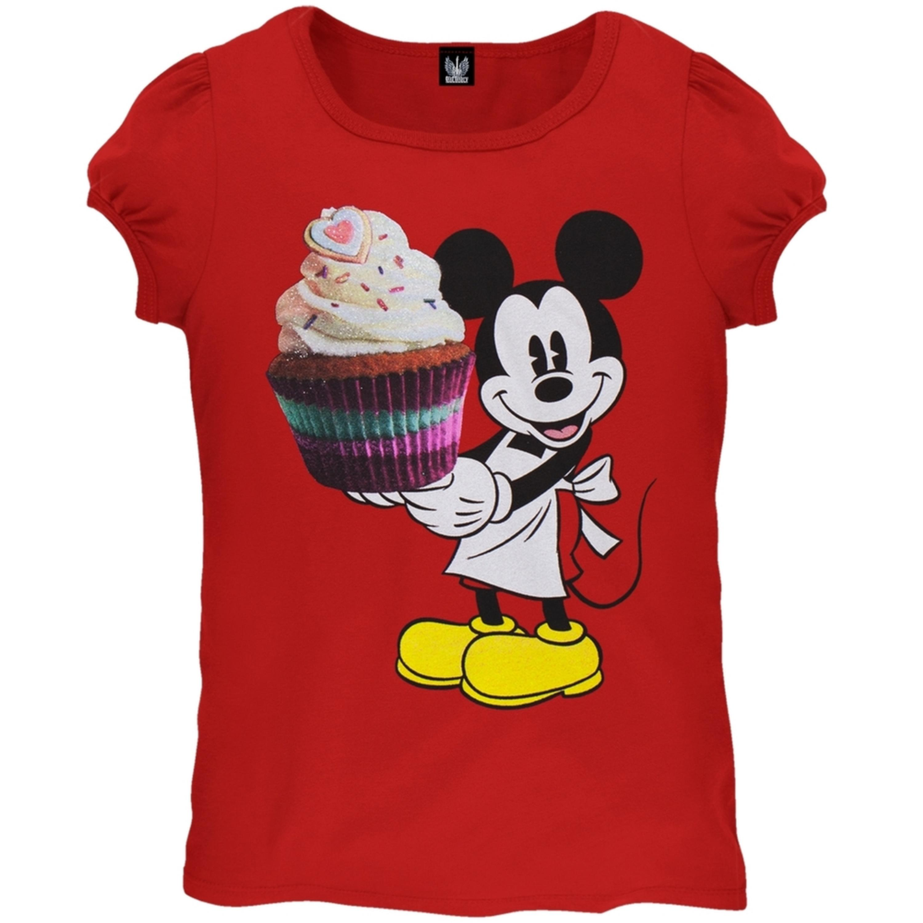 Mickey Mouse - Cupcake Baker Girls Juvy T-Shirt