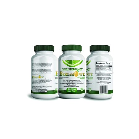 Citrus Bergamot, Cholesterol lowering support - Bergamonte supplement with Clinical Studies For Cholesterol Cardiovascular Blood Sugar and Weight Loss 60 Vegetarian Capsules 500MG Each Polyphenolic (Diet For High Blood Sugar And Cholesterol)