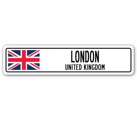 LONDON, UNITED KINGDOM Street Sign British Britons Brits flag city country gift ()