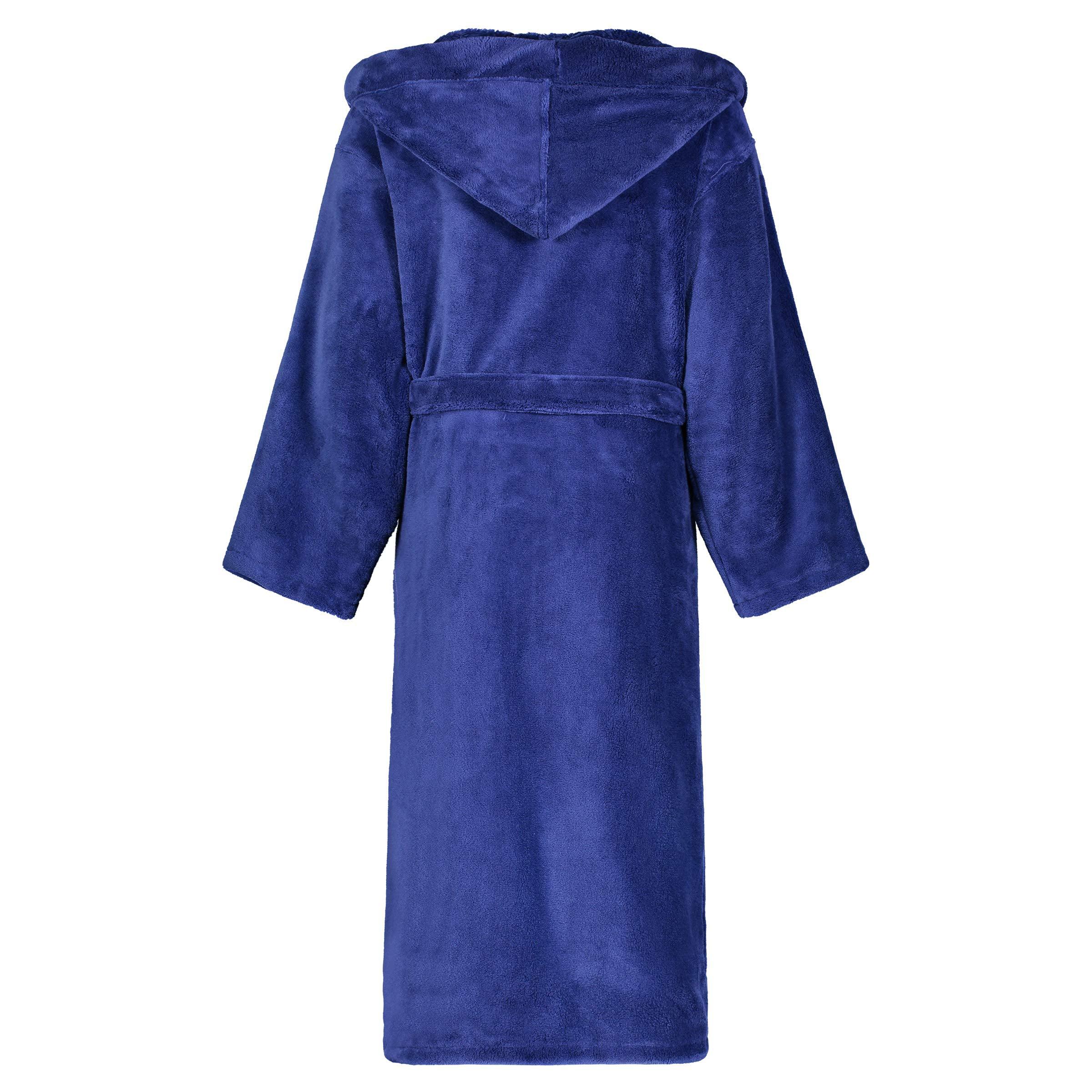 Star Art In Linen Star Kids Robe Soft Plush Hooded Fleece Robe Sleep Robe Bathrobe Boys Girls 14 16 Navy Walmart Com Walmart Com