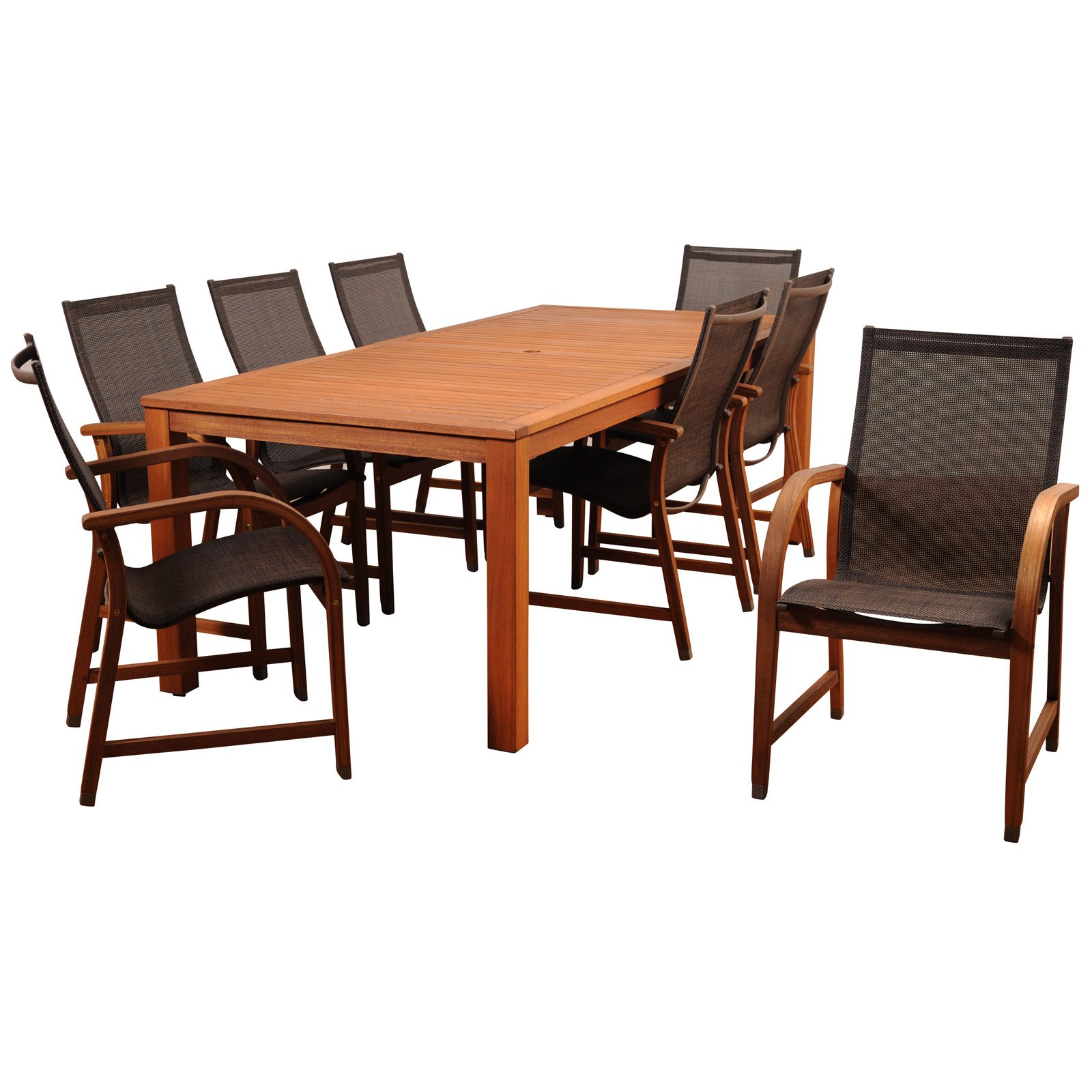 Amazonia Indiana 9 Piece Rectangular Dining Room Set by Overstock