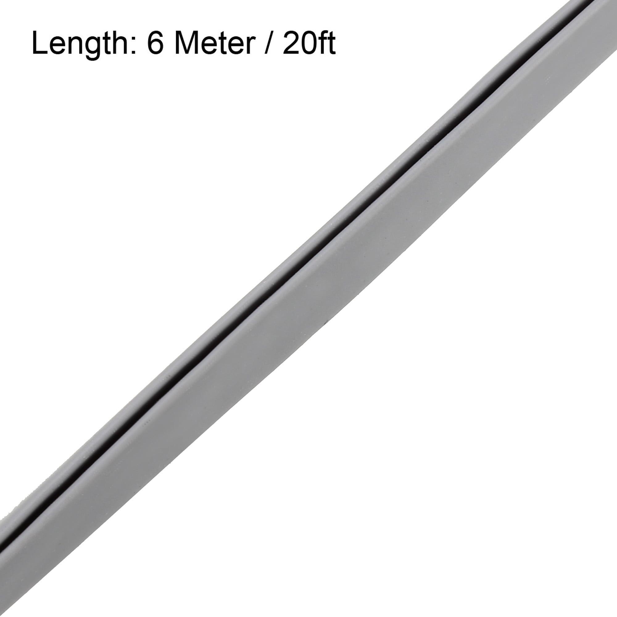 U Height: 17//32 PVC plastic edge protector 160 feet Edge trim Black U extrusion medium size Grip range: 3//64-9//64