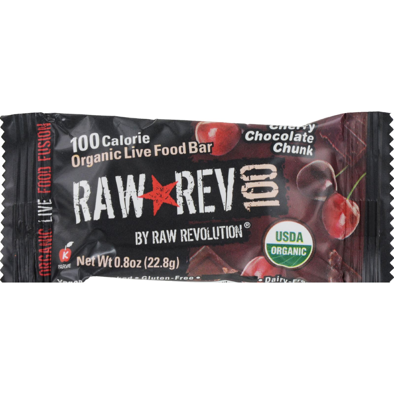 Raw Revolution Bar - Organic Cherry Chocolate - Case of 20 - .8 oz