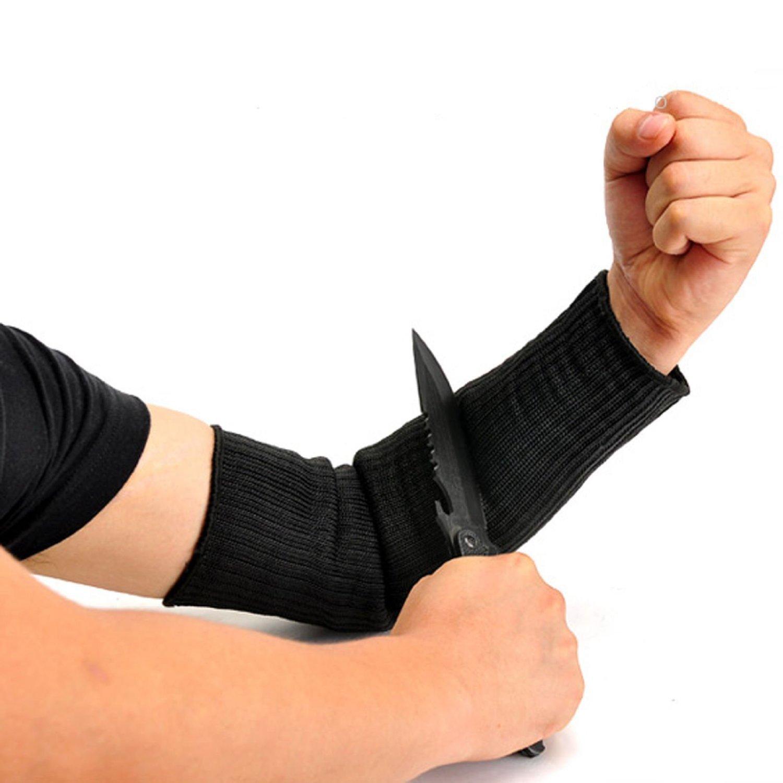 Arm Protection Sleeve,Cut Resitant Burn Resistant Anti Abrasion Safety Arm Guard for Garden Kitchen Farm Work 1 Pair