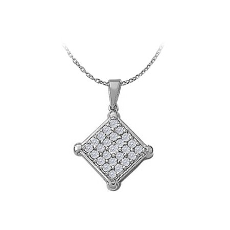 Pretty Jewelry Cubic Zirconia Pendant 925 Sterling Silver Available At Affordable Price Range