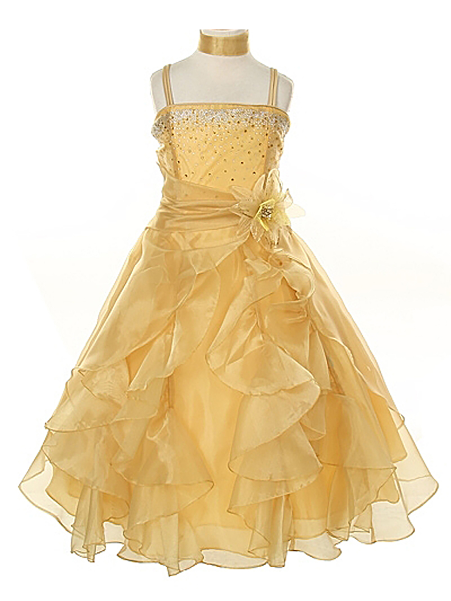 Dempsey Marie Baby & Girls Crystal Organza Rhinestone Party Pageant Special Occasion Dress