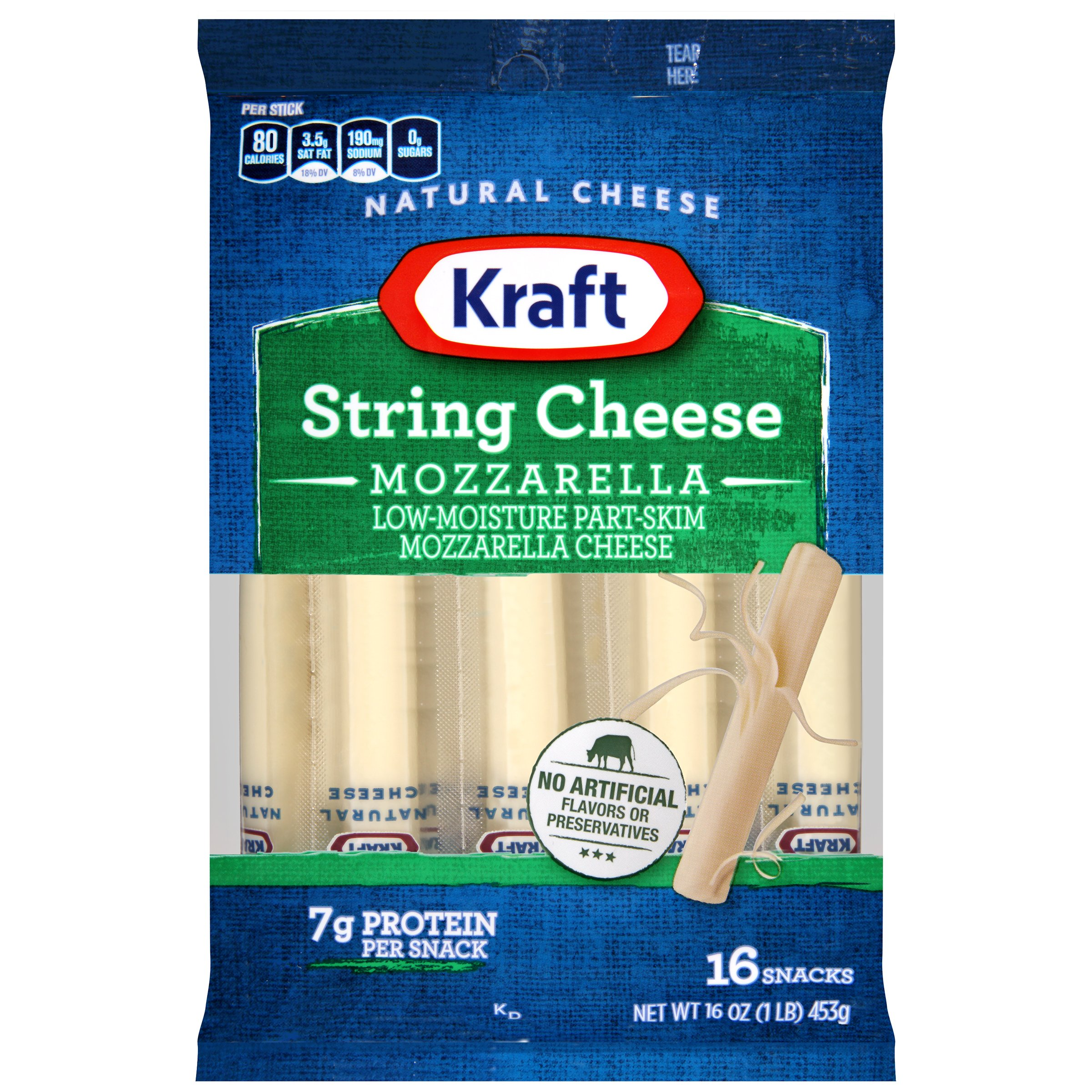 Kraft Mozzarella String Cheese 16 ct Bag