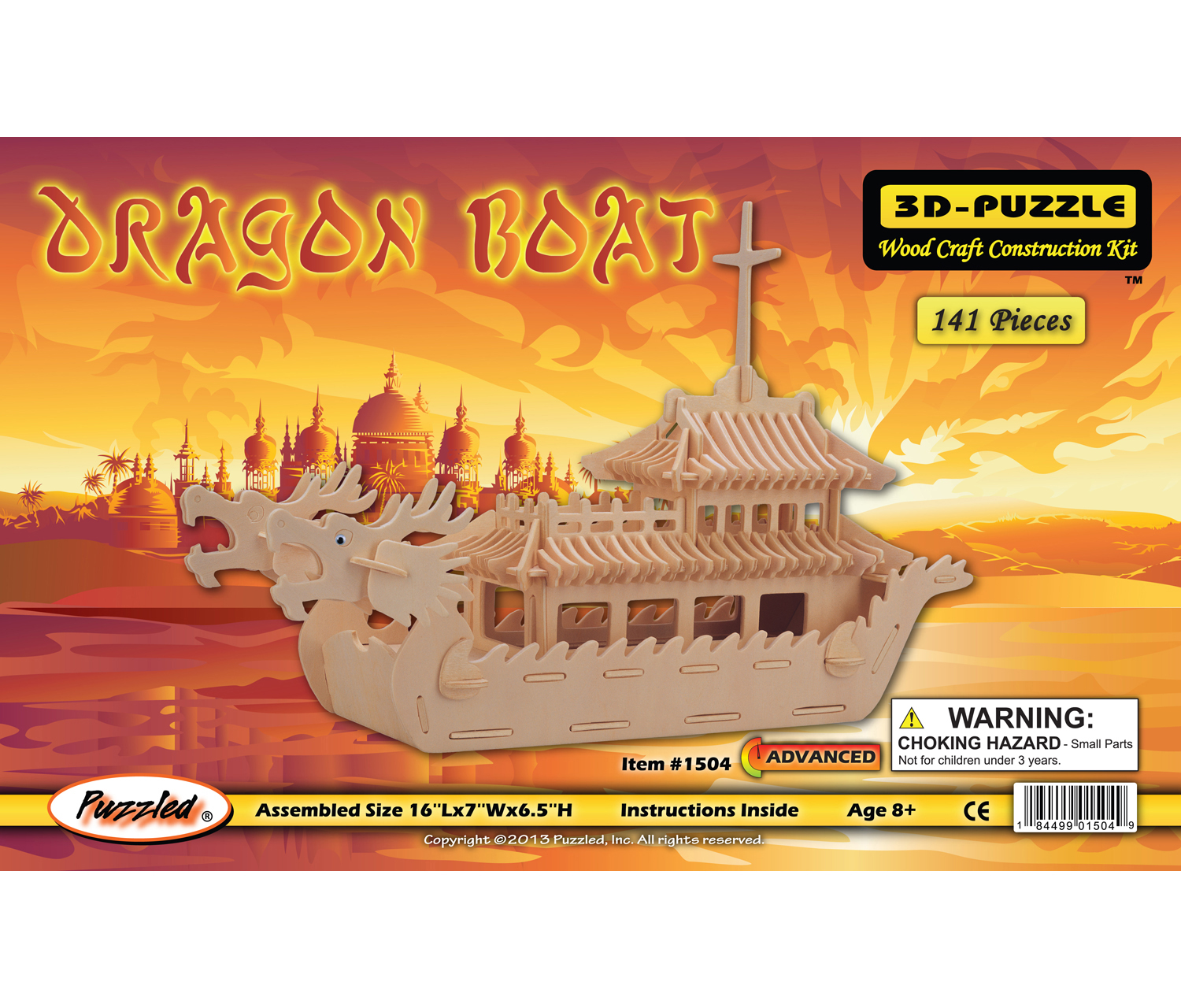 3D Puzzles Dragon Boat by Puzzled