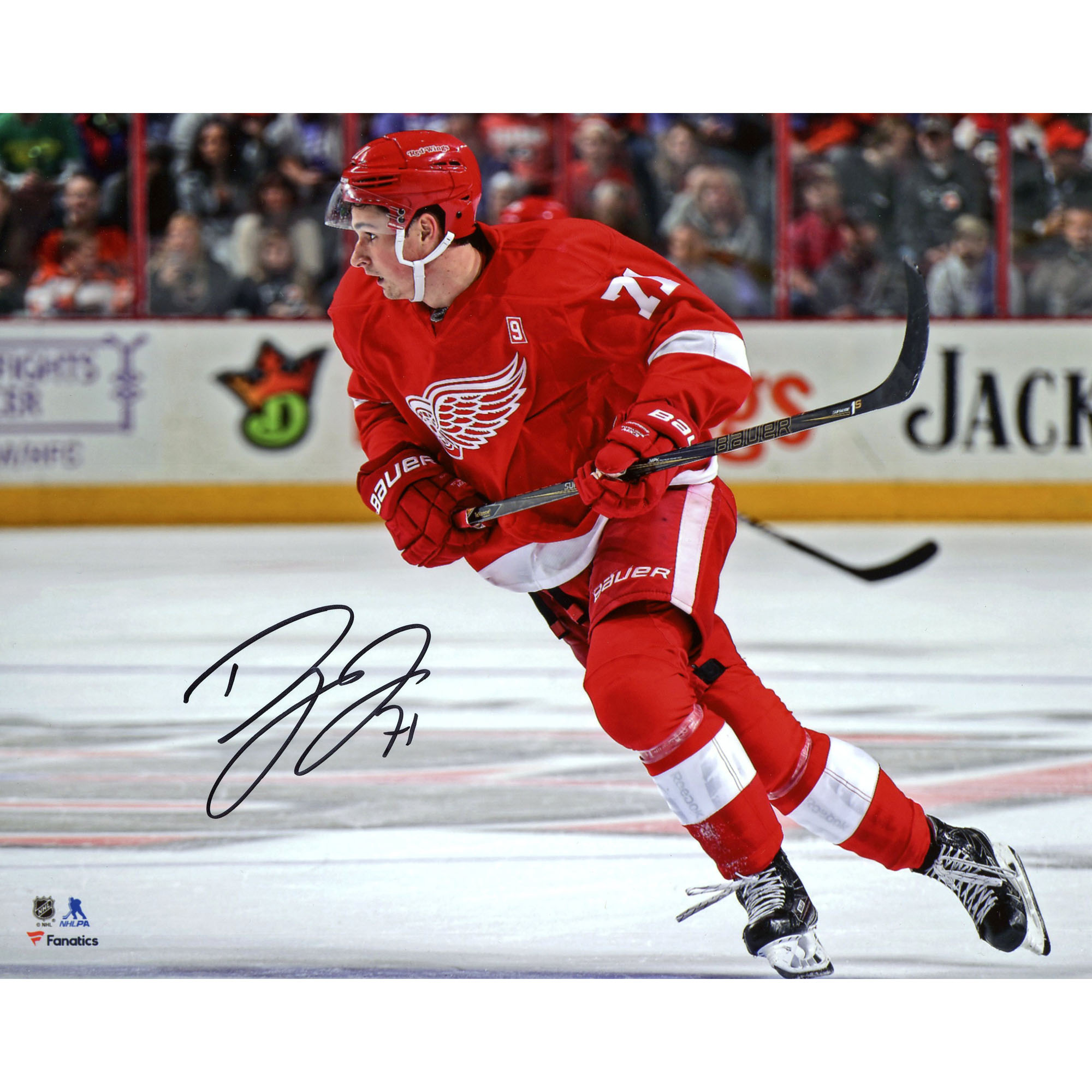 "Dylan Larkin Detroit Red Wings Fanatics Authentic Autographed 8"" x 10"" Red Jersey Skating Photograph - - No Size"