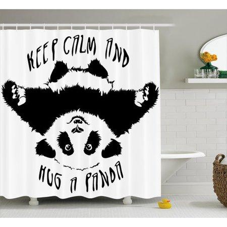 Latitude Run Beaupre And White Animal Mascot Single Shower Curtain