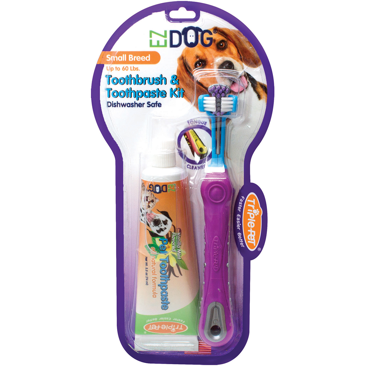 Triple-Pet EZ Dog Small Breed Pet Dental Kit