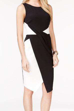 I-N-C Womens Faux Wrap Sheath Dress