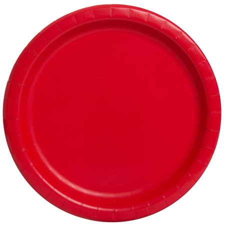 Red Paper Dinner Plates, 9in, - Lavender Paper Plates