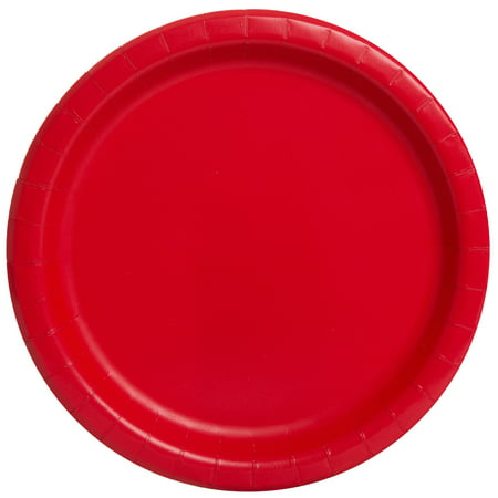 Halloween Paper Plates (Red Paper Dinner Plates, 9in,)