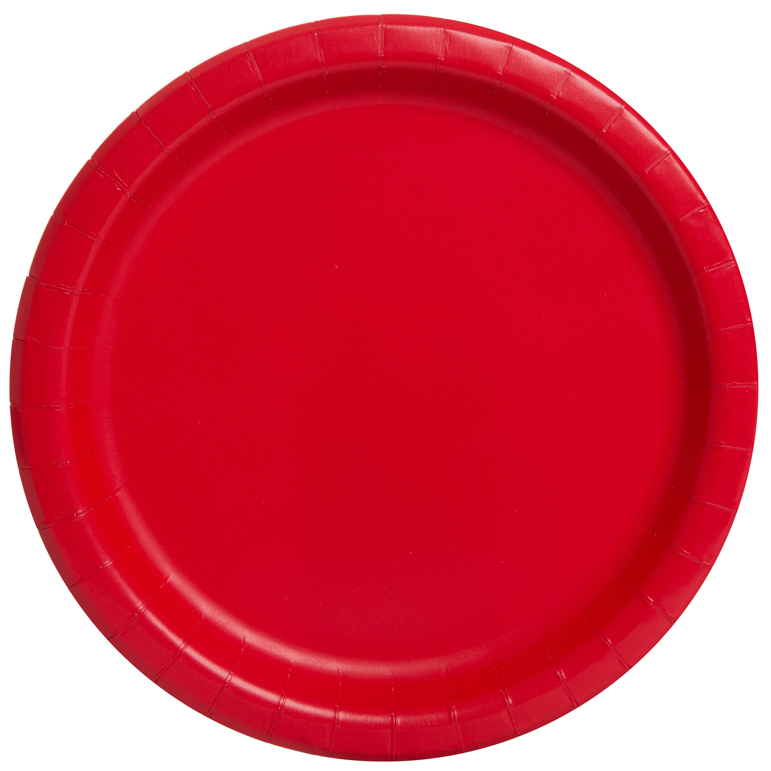Paper Plates, 9 in, Red, 20ct