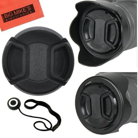 55mm Reversible Tulip Flower Lens Hood and Lens Cap Kit for Nikon D5600, D3400 DSLR Camera with Nikon 18-55mm f/3.5-5.6G VR AF-P DX and Nikon 70-300mm f/4.5-6.3G