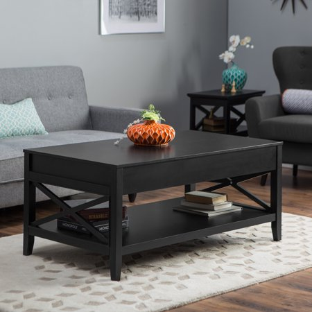 Lift Top Coffee Table Black.Belham Living Hampton Lift Top Coffee Table Black