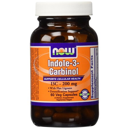 2 X 60 Capsules - Indole-3-carbinol (I3c) 200 Mg 60 X 2, 2 bottles of 60 veg caps By NOW Foods
