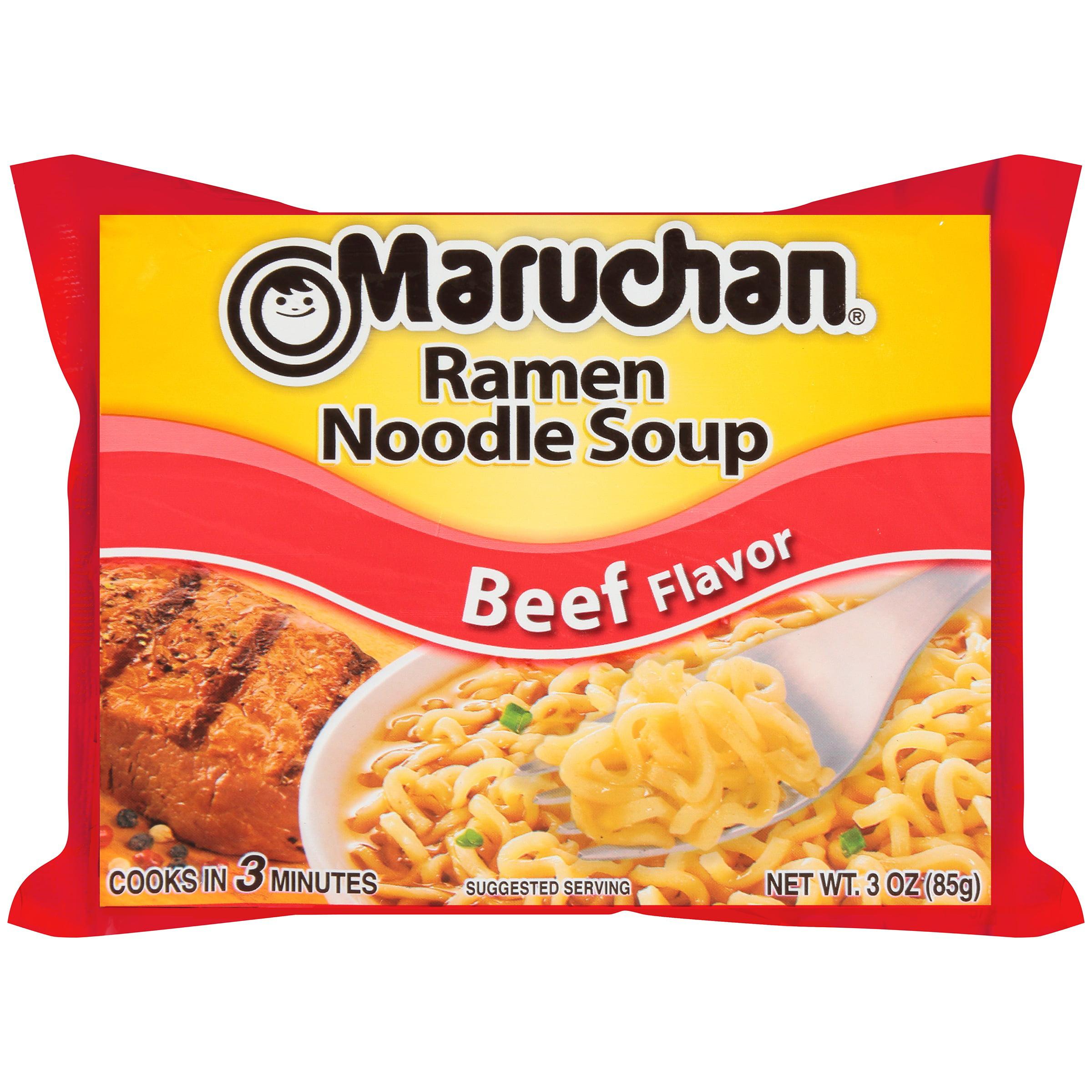 Maruchan Beef Flavor Ramen Noodle Soup 3 Oz Walmartcom