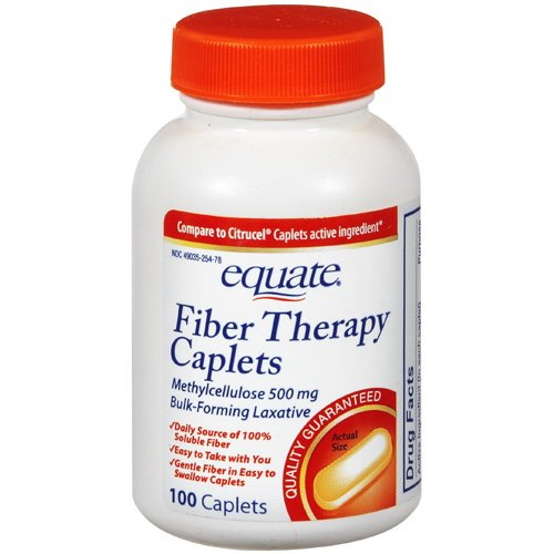 Equate: Laxative Fiber Therapy Caplets, 100 ct
