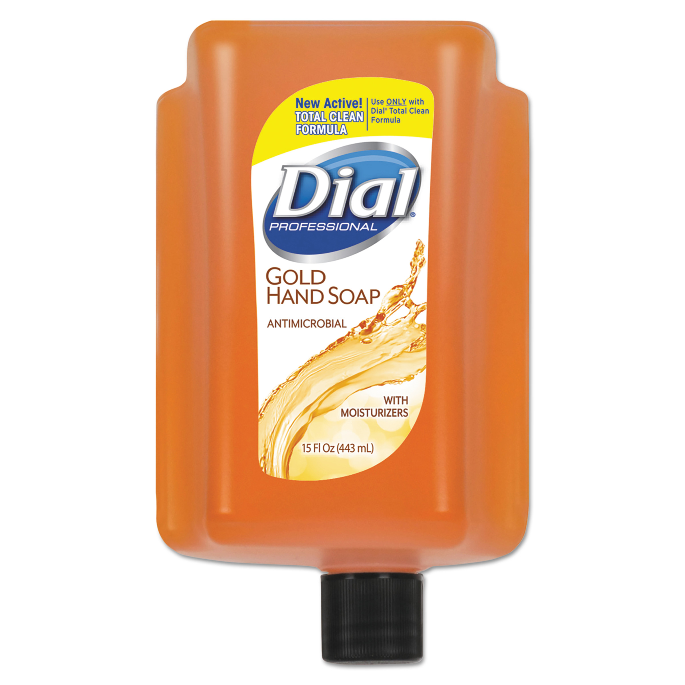 Dial Antimicrobial Liquid Soap, 15 oz Refill Cartridge, Refreshing Clean, 6/Ctn